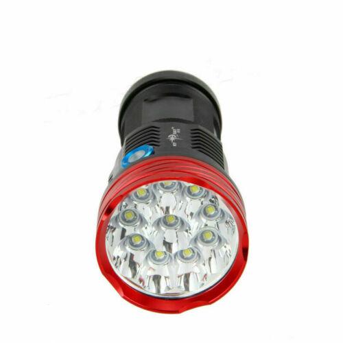 Ultra Bright 10x XM-L T6 LED Flashlight Torch Work Light Tactical Camping Light