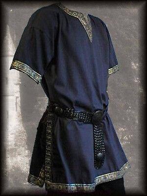 Medieval Tunic Brocade Braided Renaissance SCA Larp Aristocrat Chevalier