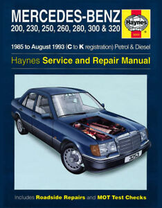mercedes benz w124 e 230e 280e 300e 320e haynes manual ebay rh ebay com 280E Tax Code Fireplace Insert Manuals