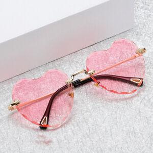 Classic-Heart-Shaped-Rimless-Sunglasses-Shades-Outdoor-Eyewear-Glasses-Unisex