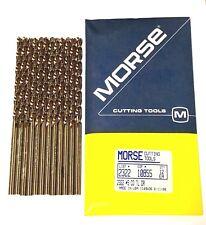 Morse 5 Cobalt Drill Bit Heavy Duty 135 Split Point Taper Length 12 Pack Usa