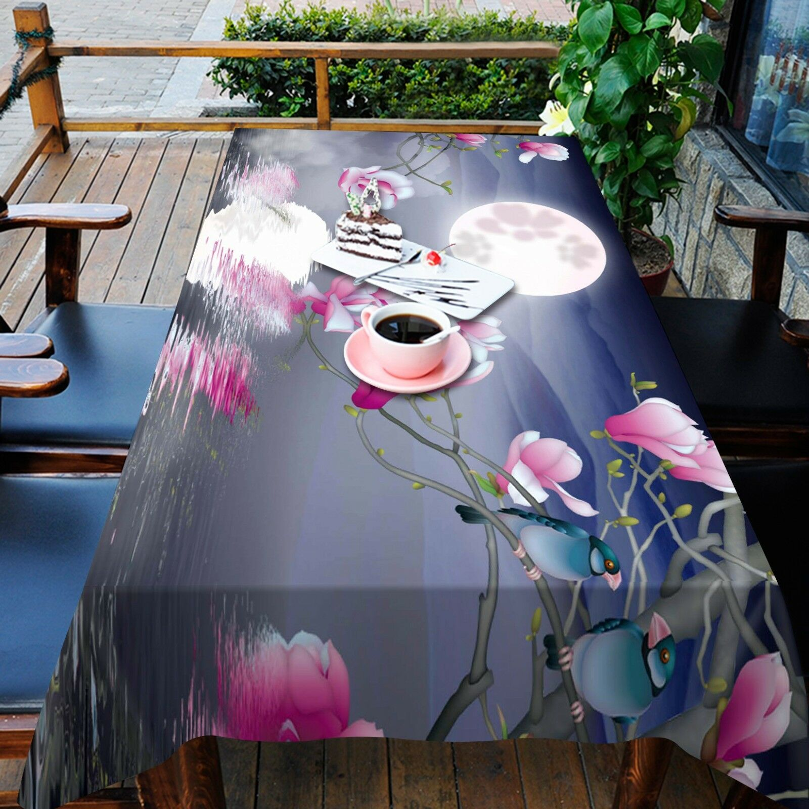 3D Moon water9 Tablecloth Table Cover Cloth Birthday Party Event AJ WALLPAPER AU