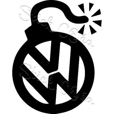 Autocollant sticker Volkswagen vw german look ref: vw60