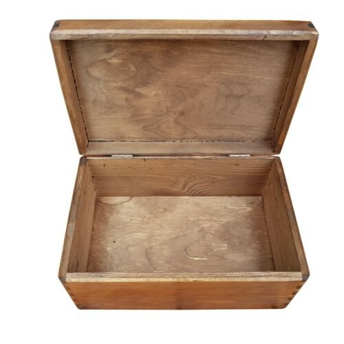 Wooden Serving Box//Trunk Without Handles and Lid 30cmx20cmx13.5cm Brown Color