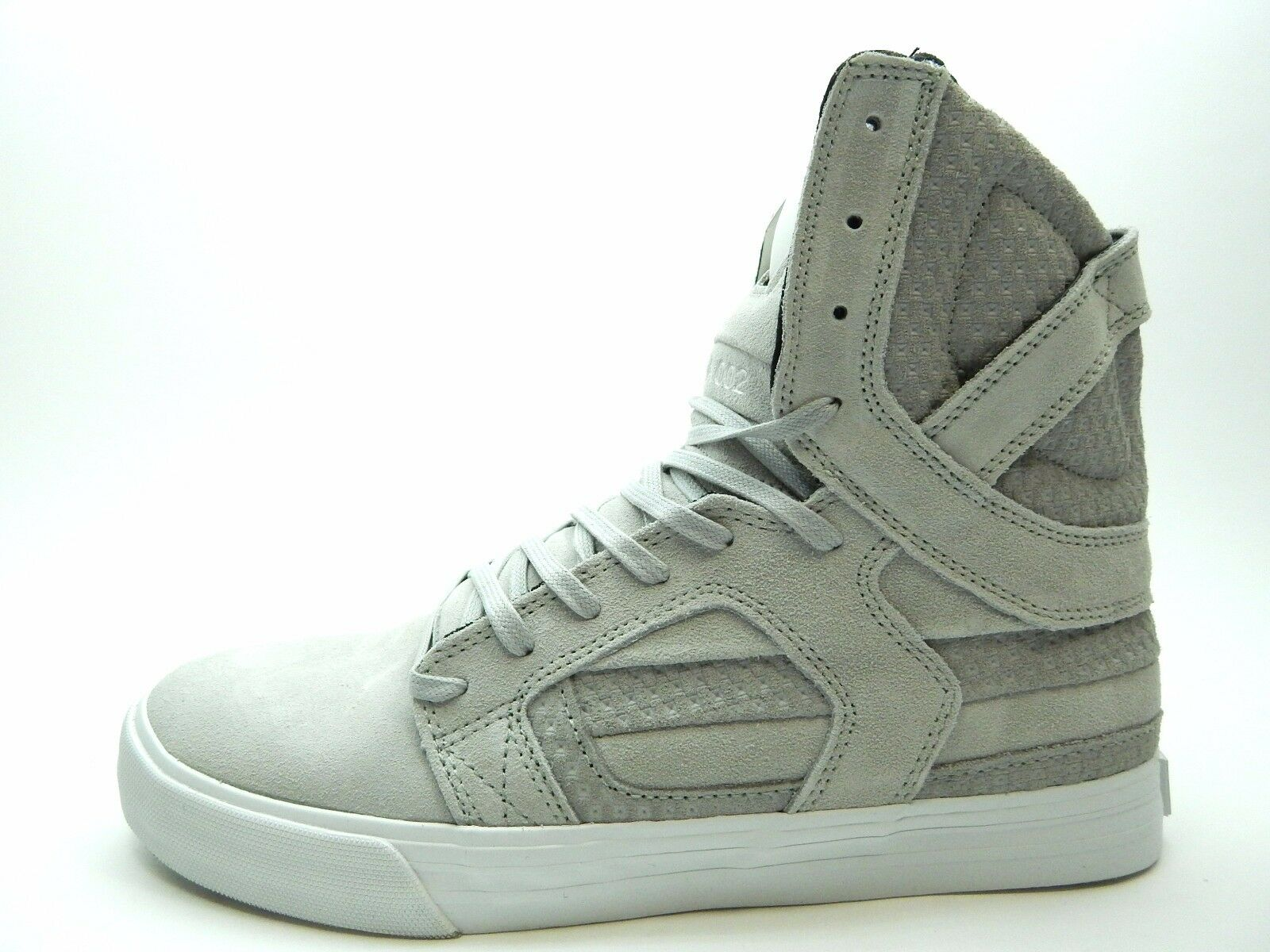 supra 08008-042-m chaussures hommes gris blanc skytop ii chaussures 08008-042-m taille 8 à 14 901002