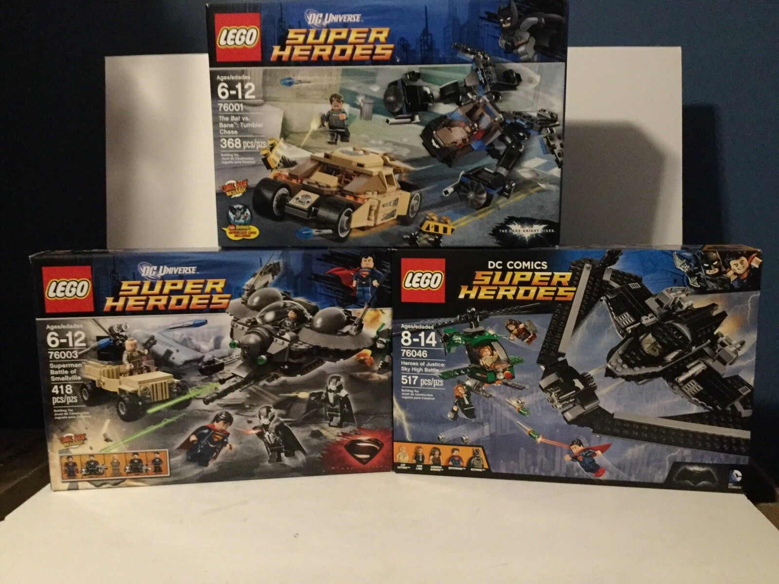 Lego DC SUPERMAN & BATMAN MOVIE Sets  76003 76001 76046 Dawn Of Justice ALL MIB