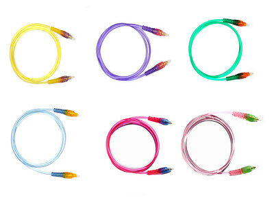 Color Transparent Optical Fiber Optic Digital Audio Cable  6.7ft US Seller