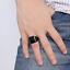Anello-Fede-Fascia-Uomo-Donna-Unisex-Acciaio-Steel-Nero-Black-Incisione-Quadrato miniatura 7