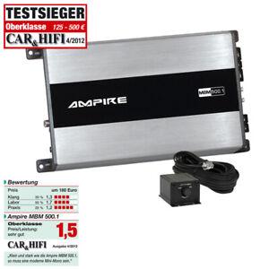 AMPIRE-MBM500-1-3G-1-Kanal-Mono-Endstufe-Verstarker-Auto-Verstarker-500W-RMS