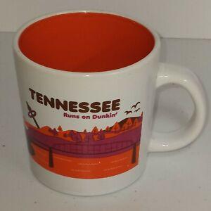 Dunkin' Donuts Destinations Coffee Mug Cup - Tennessee Runs On Dunkin' - 2013
