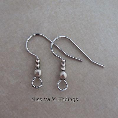 500 surgical steel fishook hook ear wires earrings 20mm 21 gauge ball coil