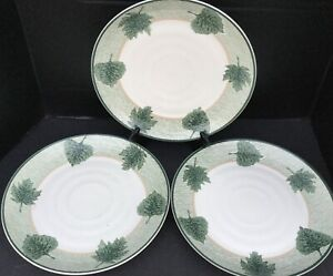 "(3) International China WOODLANDS 1999 Julie Ingleman 11 1/4"" Dinner Plates EUC"