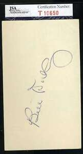Bill-Dickey-Jsa-Coa-Autograph-3x5-Index-Card-Hand-Signed-Authentic