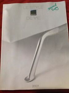 Ligne Roset 2001 Catalogue Signed Autograph By Peter Maly On - Maly-platform-bed-by-ligne-roset