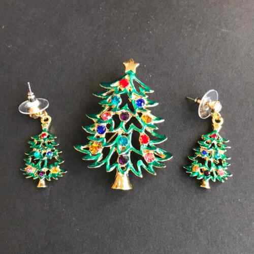 Christmas Angel Earrings with Enamel Holly Charms and Red /& Green Crystals Vintage Festive Earrings Stocking Stuffer