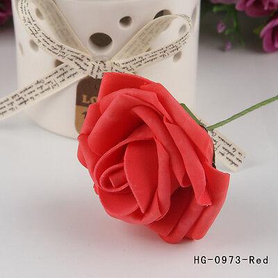 1 Bunch Artificial Foam Rose Flowers Home Bouquet Wedding Party Craft Decor DIY