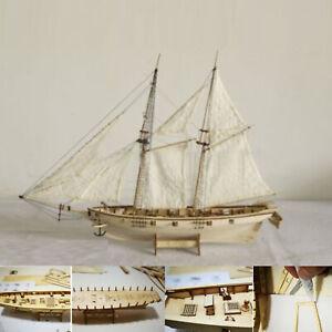 1-120-Holz-Segelboot-Holz-Segelboot-Geschenk-Ausgangsmodell-Boots-Ausruestungs