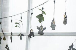 Metallkette-Clip-Zink-Fensterdeko-Girlande-Fotokette-Shabby-Vintage-Ib-Laursen