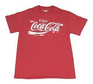Coke-Coca-Cola-Sand-Logo-Vintage-Drink-Men-039-s-T-Shirt