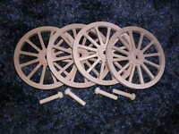 Wagon & Cannon Wheels - 3½ Inch Diameter Alder Wood - Civil War Infantry Display