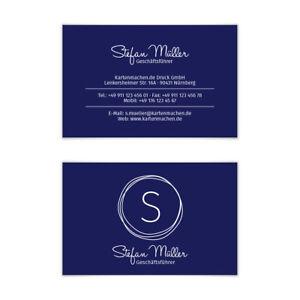 Visitenkarten individuell Business Karten 300g/qm 85 x 55 mm - Kritzellogo