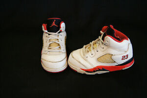 sports shoes 7429f f1ea1 Details about Nike Air Jordan Retro 5 toddler size 6c white/fire red/black  440890-120