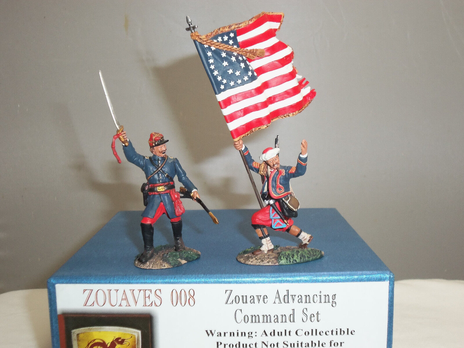 CONTE ZOUAVES008 ZOUAVE ADVANCING AMERICAN CIVIL WAR TOY SOLDIER COMMAND SET