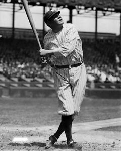 New-York-Yankees-BABE-RUTH-Glossy-8x10-Photo-Baseball-Swing-Print-Poster