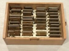 Lot Of 101 Printing Letterpress Printer Block Plates Antique Brass Alphabet