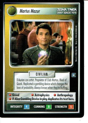 STAR TREK CCG DS9 RARE CARD MARTUS MAZUR