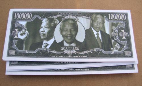 LOT OF 10 Nelson Mandela MONEY FAKE WHOLESALE LOT  MILLION DOLLAR  FREE SHIP