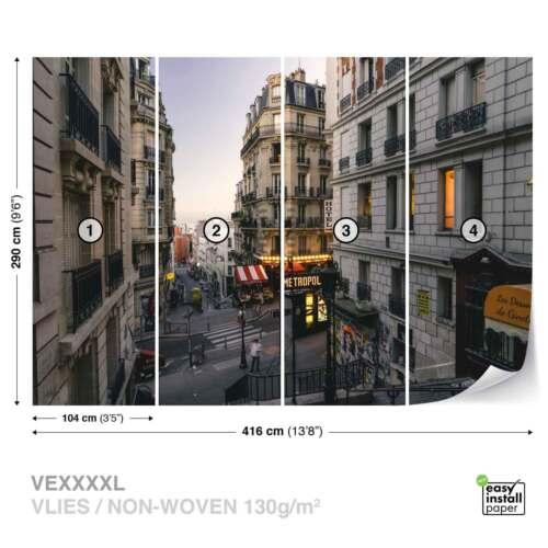 JD-1343WS WALL MURAL PHOTO WALLPAPER XXL Paris City Metropolis Street