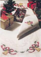 Kreuzstich 1 RICO  Serviette + Vorlage + Stickgarn , Weihnachten creme, Komplett