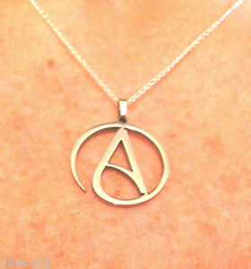 Atheist pendant circle a solid 316l stainless steel necklace not image is loading atheist pendant circle 034 a 034 solid 316l aloadofball Choice Image