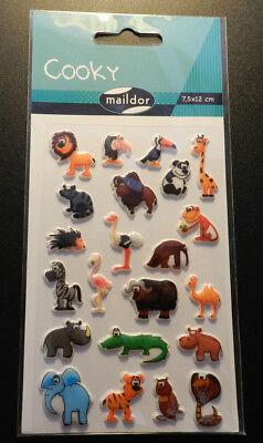 Maildor 26 tlg 3D-Sticker Sticker Set Cooky Russische Matroschka 7,5x12cm
