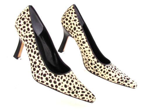 5 Imprimé pour Noir Chaussures 8 Escarpins femmes Blanc Animal Nina Designer lK3FT1cJ