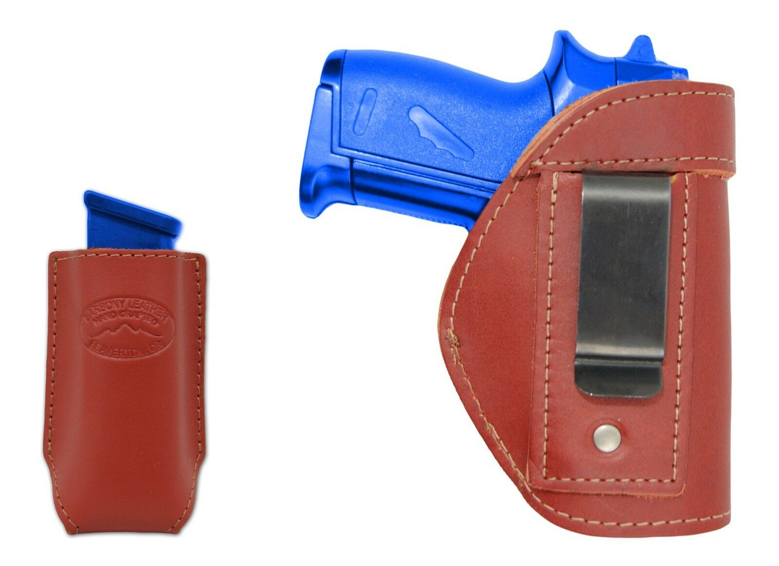 New Barsony Burgundy Leather IWB Holster + Mag Pouch Colt 380 Ultra Compact 9mm