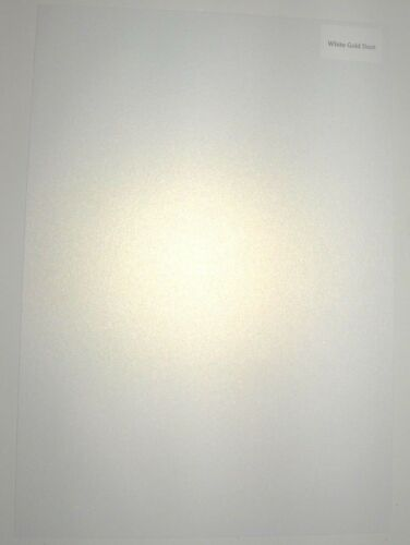 25 A4 Ice White Gold Dust Shimmer perlée Carte Qualité 300gsm simple face!
