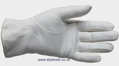 Wholesale 2 Pairs Ceremonial Gloves Cotton Blend 3 Ribbed White Gloves