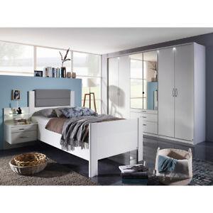 Komfort Schlafzimmer Villingen Komfortzimmer Weiss Grau Inkl Spiegel