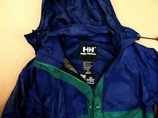 SALE! C24 HELLY HANSEN / HELLY TECH PACKABLE hooded jacket size M, VG+ cond