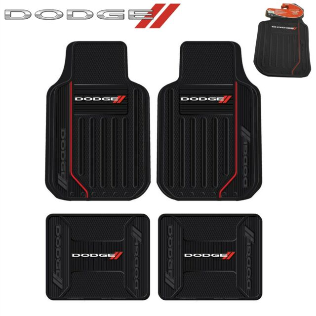4 PC Dodge Elite Front/Rear Rubber Floor Mats With Logo Fast Same Day Shipping
