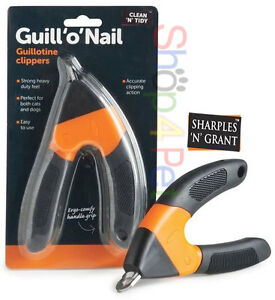 PET-NAIL-CLIPPERS-SHARPLES-amp-GRANT-GUILL-039-O-039-NAIL-GUILLOTINE-DOG-amp-CAT-GROOMING