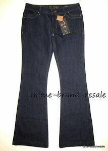 fcfe4497a252a DL1961 $168 NWT Roxy Kick Flare Jeans Womens 31 Dark Wash 4 Way ...