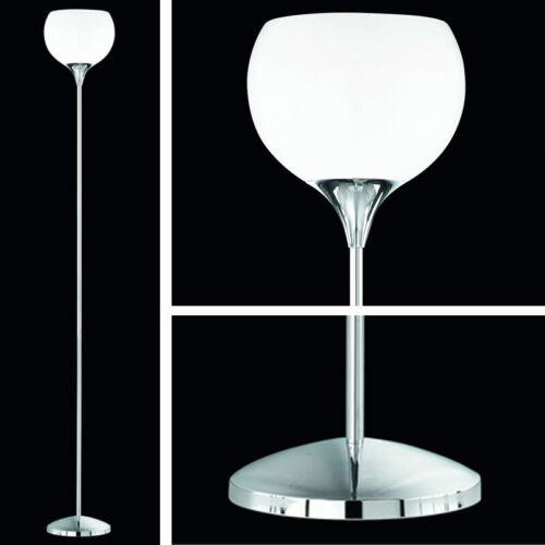 Reality Stehlampe Pesaro mit Schirm weiß chrom