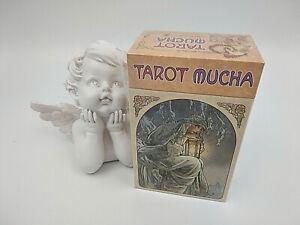 Jeu-de-tarot-divinatoire-Mucha-78-cartes-avec-livret-enFrancais-neuf