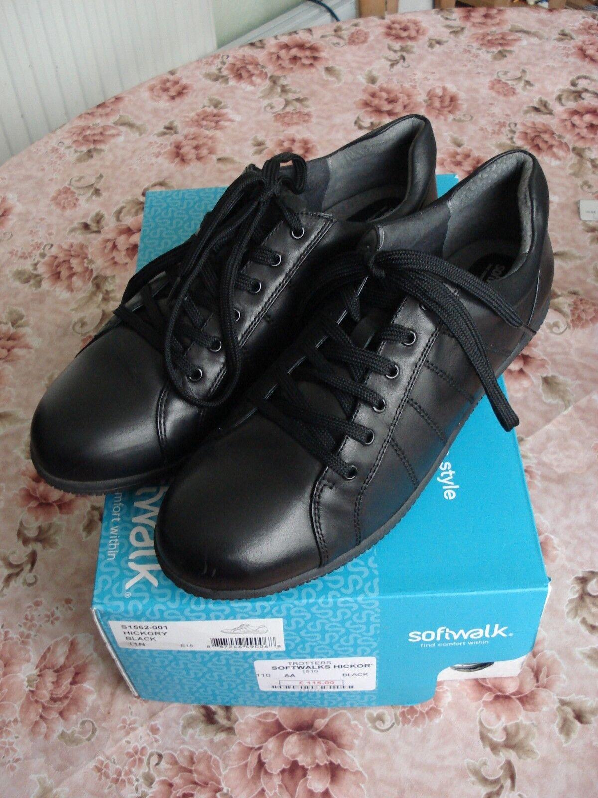 Softwalk Trojoters Hickory Negro Zapatos Para Para Para Caminar Entrenadores Ajuste estrecho señoras UK 9  servicio considerado