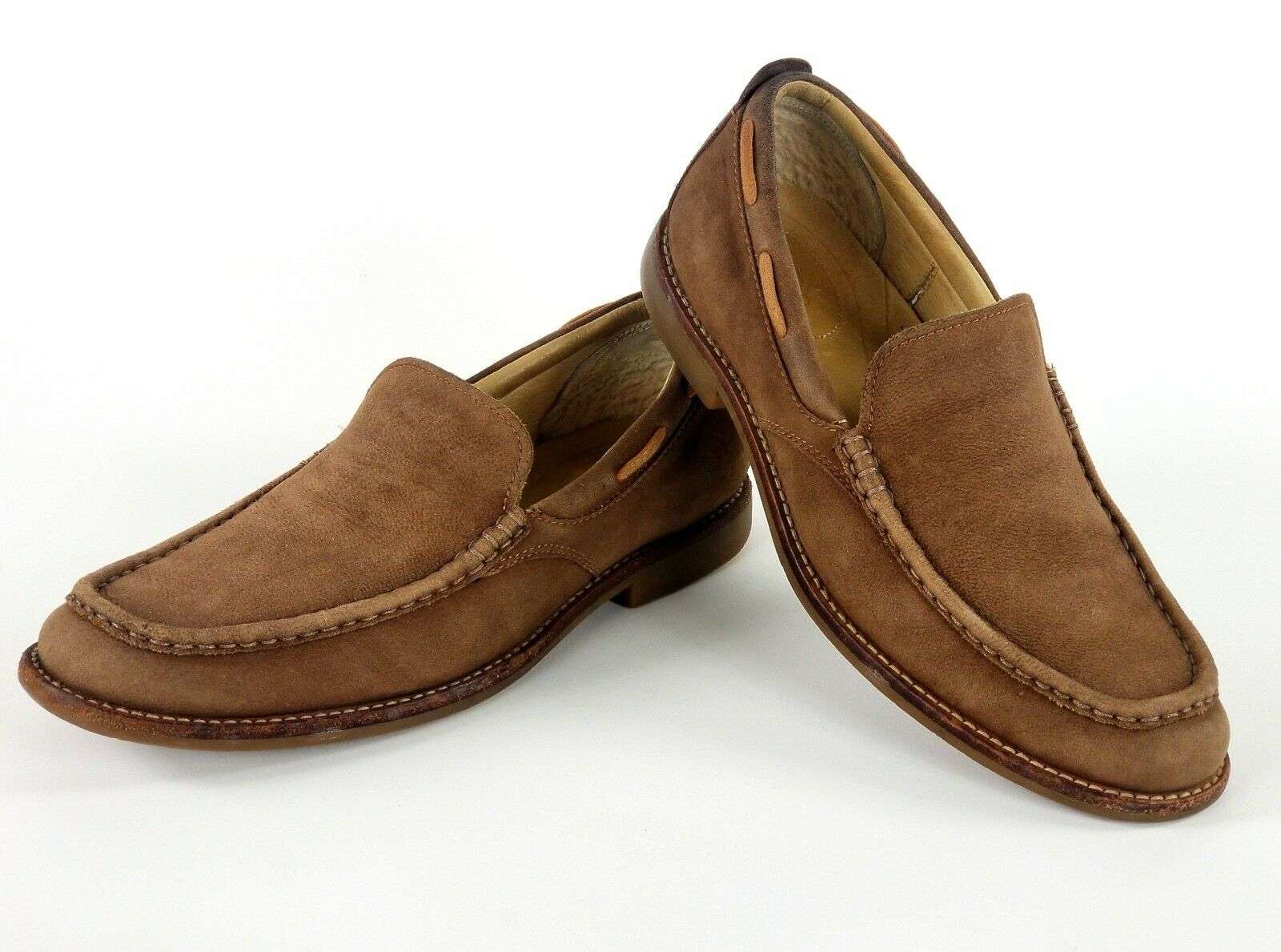 UGG Australia Sam Leather Driving Loafers Mens 11 brown slip on shoes RARE!