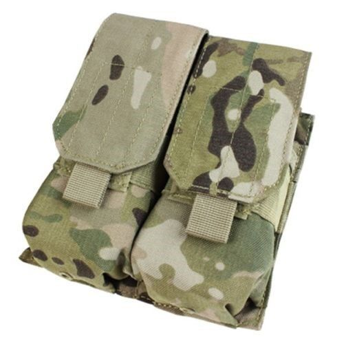 Condor MA4 MOLLE Double 5.56 .223 Rifle Magazine Hook-n-Loop Flap Pouch Multicam