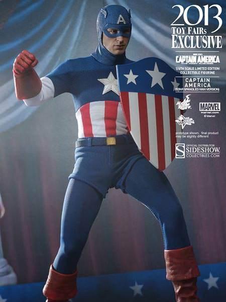 Hot Toys Capitán América Star Spangled hombre versión 1 6 Escala Figura De Acción